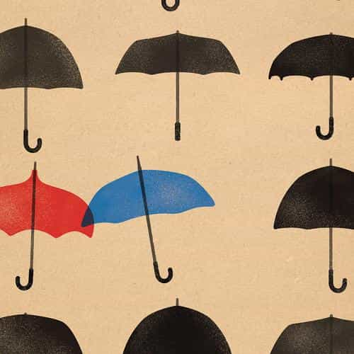 blue umbrella cute minimal art disney