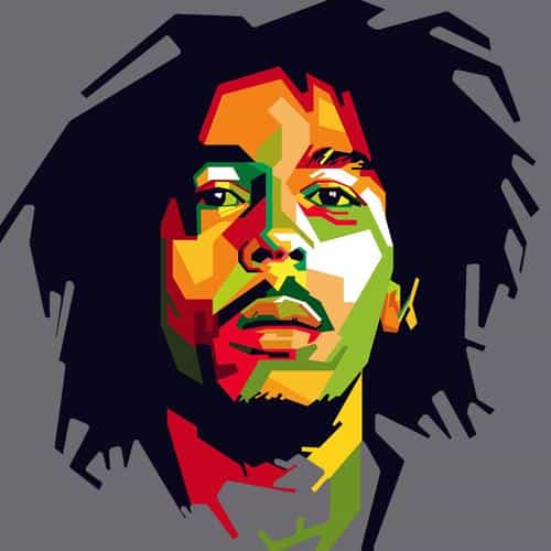 bob marley art illust music reggae celebrity
