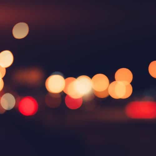 bokeh dark lights night art simple flare