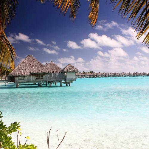 Bora Bora Clear Blue Lagoon fonds d