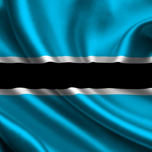Botswana flag wallpaper