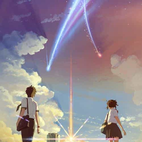boy and girl anime art spring cute flare