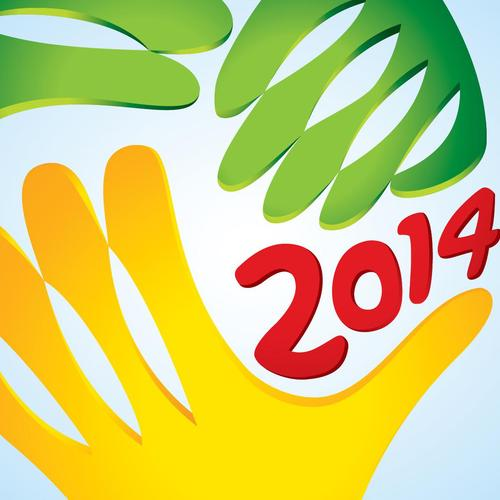 Brazil 2014 World cup with logo