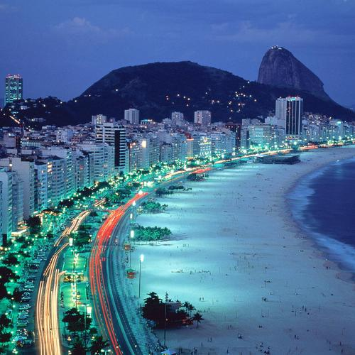 Brazil coast in the night