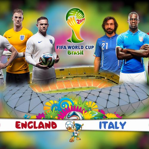 Brazil World cup 2014 England vs Italy wallpaper