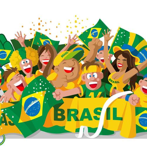 Brazil world cup 2014 fans vector wallpaper