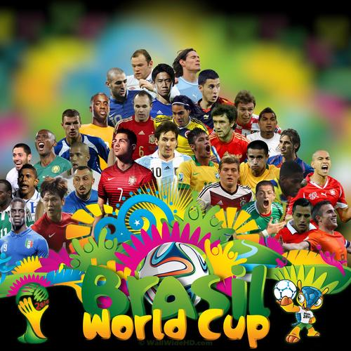 Brazil World Cup 2014 football stars wallpaper