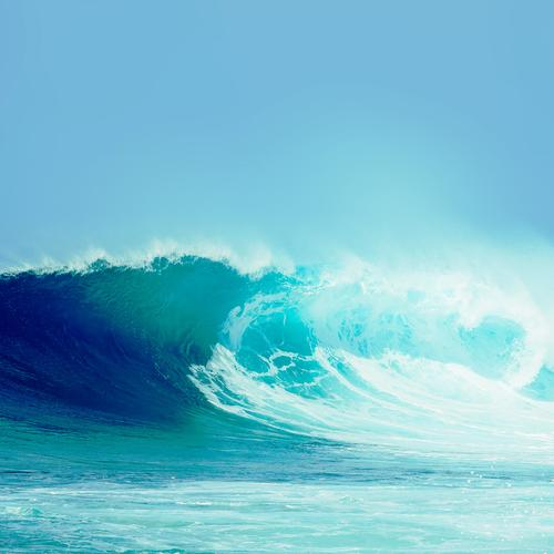 breaking good wave light ocean sea day nature