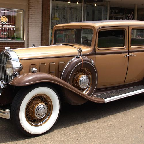 Brown classic car