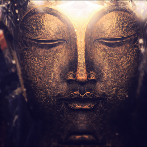 Buddha sculpture face wallpaper