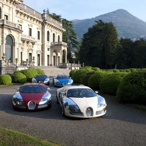 Bugatti Veyron in a million dollar Mansion