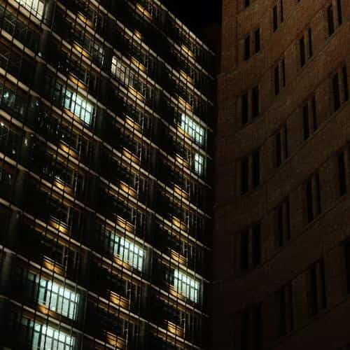 building city night dark architecture