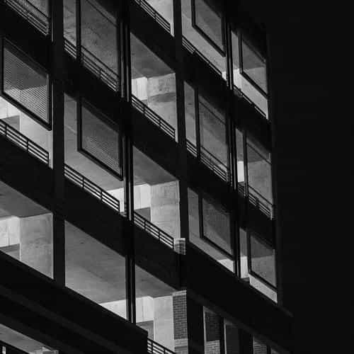 bw dark city architecture night building house