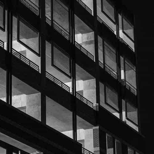 bw night building window dark architecture city