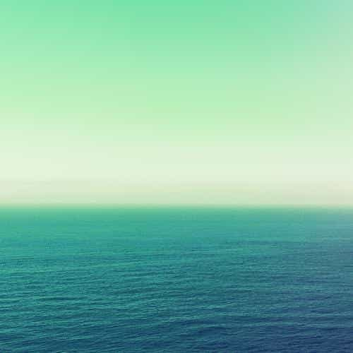 calm sea green ocean water summer day nature