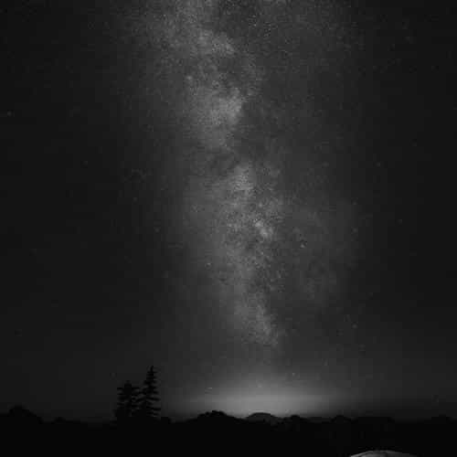 camping night star galaxy milky sky dark space bw dark