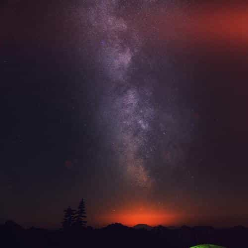 camping night star galaxy milky sky dark space