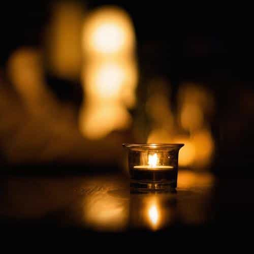 candle light night bokeh romantic