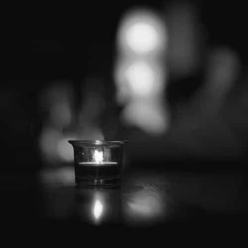 candle light night bw bokeh romantic
