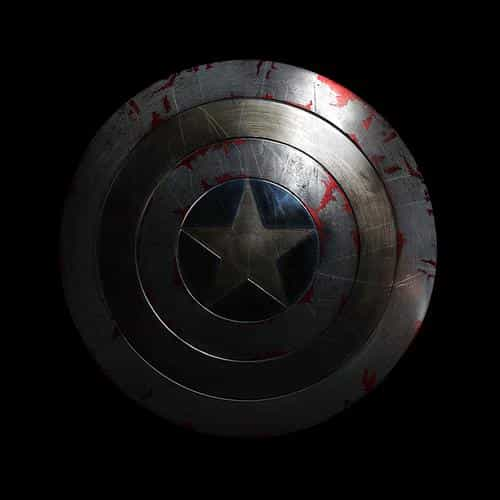 captain america avengers hero sheild small dark