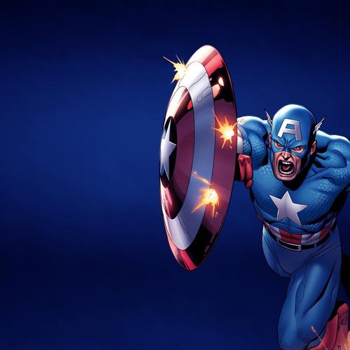 Captain America with vibranium shield