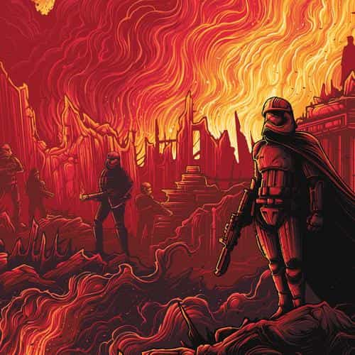 captain phasma starwars red film art