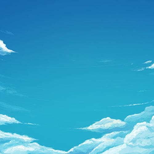 Cartoon blue sky wallpaper