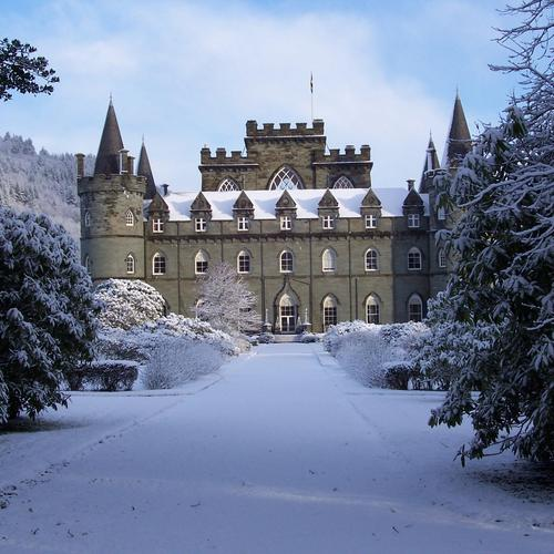 Castle in winter