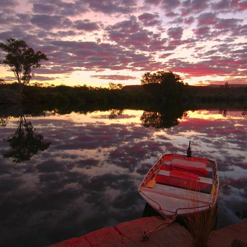 Chamberlain river Australia at dawn