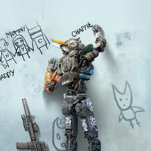 chappie robot art film poster