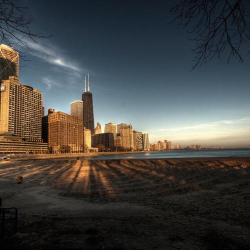 Chicago, Skyline, Lake Michigan bakgrunnsbilder