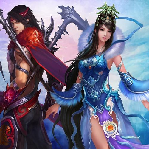Chinese couple in game wallpaper