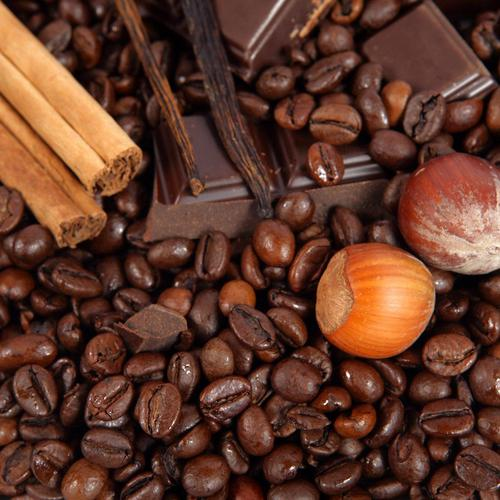 Chocolate and coffee beans wallpaper