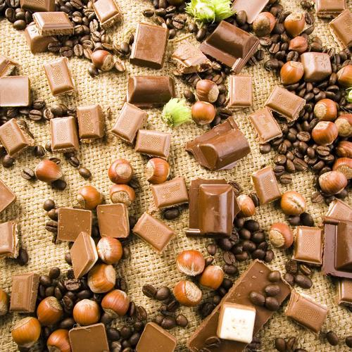 Chocolate pieces wallpaper