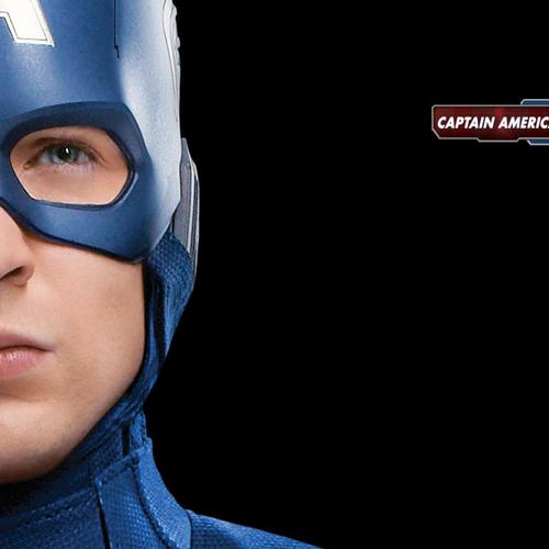 Chris Evans in Captain America kostuumportret behang