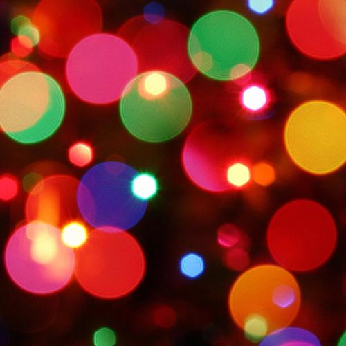 Christmas 2014 colorful bubbles lights wallpaper