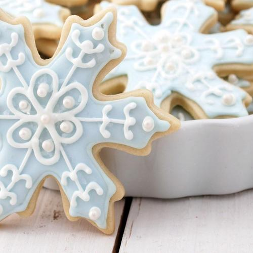 Christmas Cookies Snowflakes Holiday wallpaper