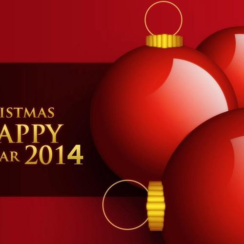 Christmas Happy New Year 2014 wallpaper