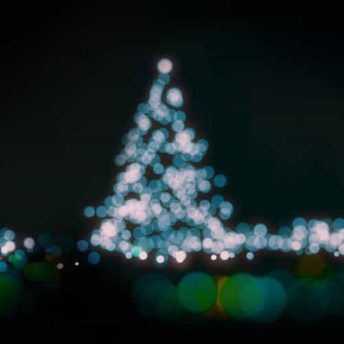 christmas lights bokeh blue love dark night