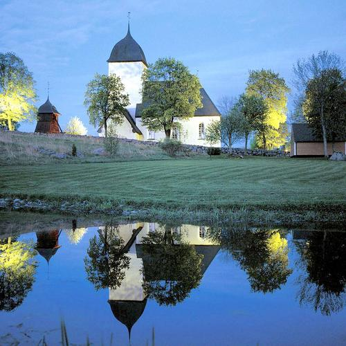 Church in Sweden at twilight