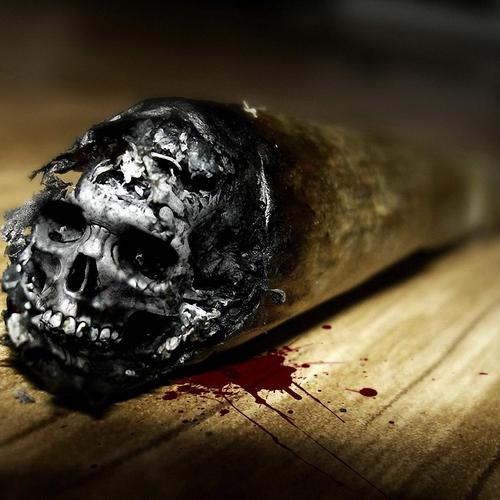 Cigarette skull - Smoking Kills wallpaper
