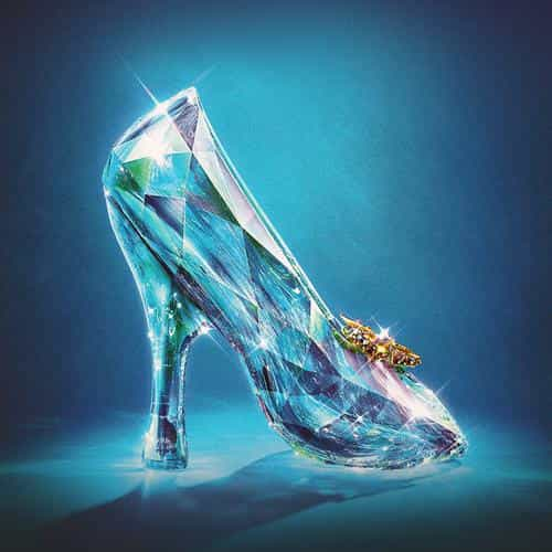 cinderella glass slipper shoes illust