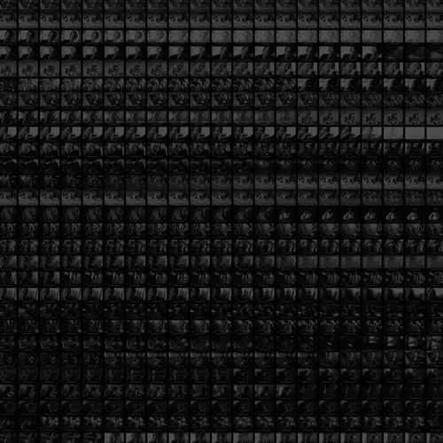 cinema screen square pattern dark bw black