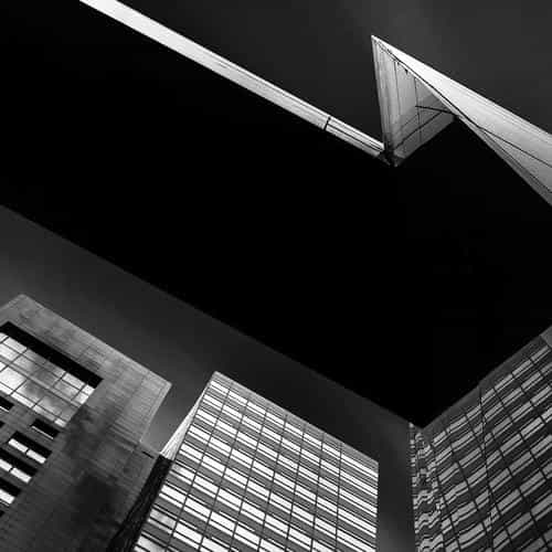 city building art minimal window bw dark