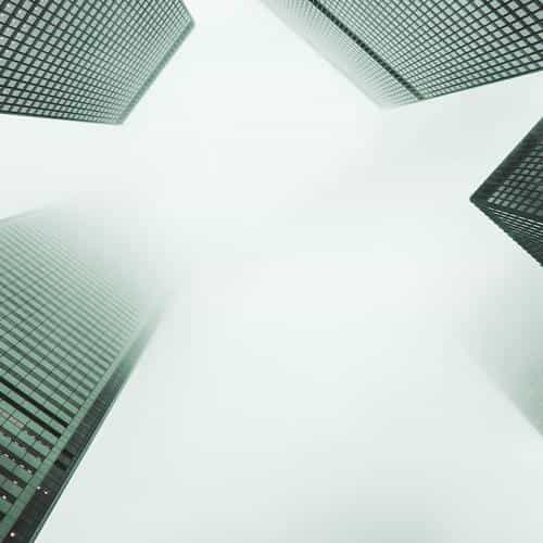 city fog building architecture simple green