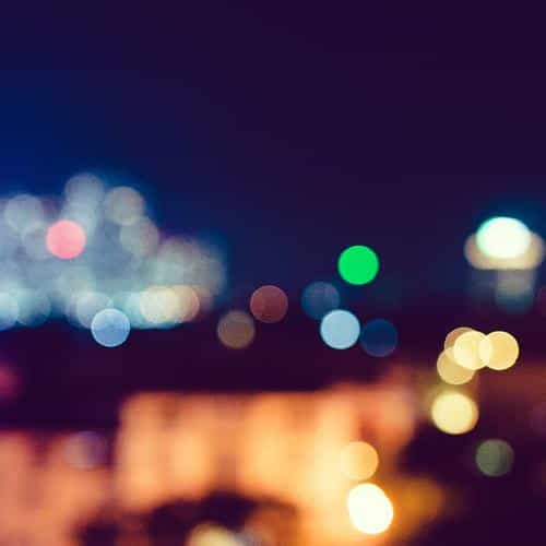 city night bokeh blue romantic dark