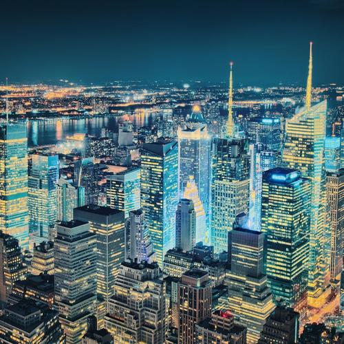 Cityscape of New York wallpaper
