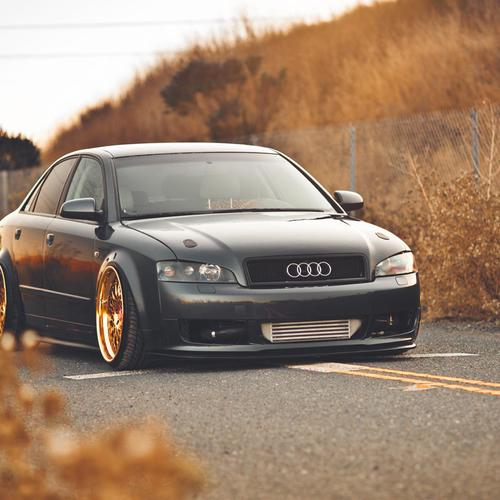 Download Classic  Audi in the country side High quality wallpaper