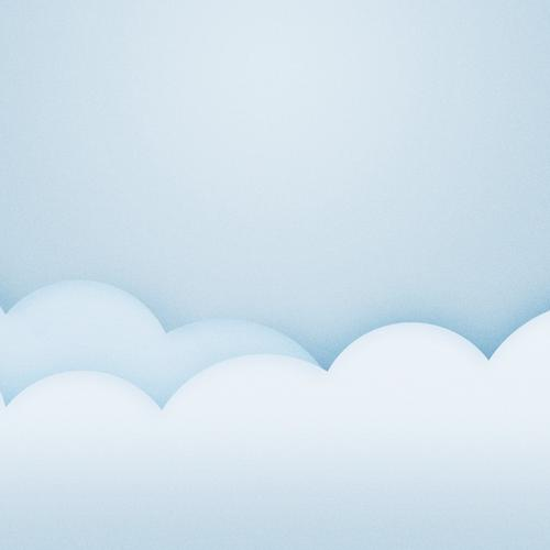 Cloud 3D vector wallpaper