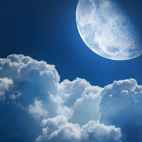 Clouds and moon wallpaper